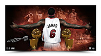 LEBRON JAMES Autographed Witness 2013 NBA Finals Designed Photo UDA