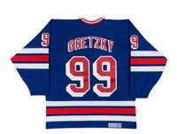 WAYNE GRETZKY Signed Home New York Rangers Jersey UDA