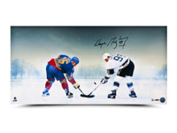 WAYNE GRETZKY Autographed Frozen Pond 30 x 15 Photo UDA LE 99