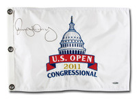 RORY MCILROY Autographed 2011 Embroidered US Open Pin Flag UDA
