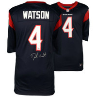 DESHAUN WATSON Autographed Houston Texans Nike Navy Jersey FANATICS