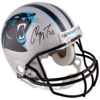 CHRISTIAN McCAFFREY Autographed Carolina Panthers Authentic Helmet FANATICS