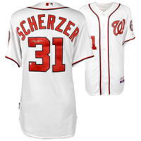 MAX SCHERZER Autographed Washington Nationals Authentic White Jersey FANATICS