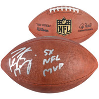 "PEYTON MANNING Autographed Inscribed ""5x NFL MVP"" Official NFL Football FANATICS"