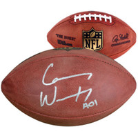 CARSON WENTZ Autographed Philadelphia Eagles Duke Official Football FANATICS