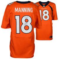 "PEYTON MANNING Autographed Nike Elite ""Career Stat"" Broncos Jersey FANATICS"