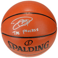"JOEL EMBIID Autographed / Inscribed ""The Process"" Spalding Basketball FANATICS"