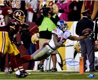 "ODELL BECKHAM Jr. Hand Signed Giants ""Diving Catch"" 16x20 Photo STEINER"