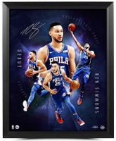 "BEN SIMMONS Autographed ""Inauguration"" 16 x 20 Framed Photograph UDA"