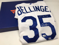 "CODY BELLINGER Autographed ""2017 NL ROY"" Dodgers Home Authentic Jersey FANATICS"