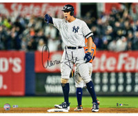 "AARON JUDGE Autographed 16"" x 20"" ""Thumbs Down"" Photograph FANATICS"