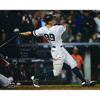 "AARON JUDGE New York Yankees Autographed 16"" x 20"" Photograph with Multiple Rookie Year Inscriptions FANATICS LE 99"