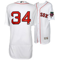 DAVID ORTIZ Boston Red Sox Autographed Majestic Authentic White Retirement Logo Jersey with 541 HR's Inscription FANATICS