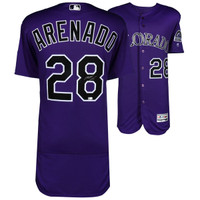 NOLAN ARENADO Colorado Rockies Autographed Majestic Purple Authentic Jersey FANATICS