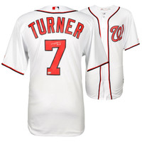 TREA TURNER Washington Nationals Autographed Majestic White Replica Jersey FANATICS