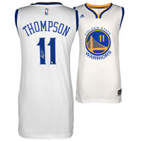 KLAY THOMPSON Golden State Warriors Autographed White Swingman Jersey FANATICS
