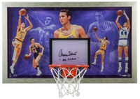 "JERRY WEST Autographed ""Mr. Clutch"" Acrylic Backboard Display UDA LE 25"