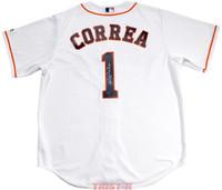 CARLOS CORREA Autographed Houston Astros White Jersey TRISTAR