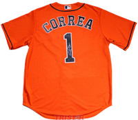 CARLOS CORREA Autographed Houston Astros Orange Jersey TRISTAR