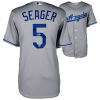 COREY SEAGER Autographed Los Angeles Dodgers Grey Jersey FANATICS