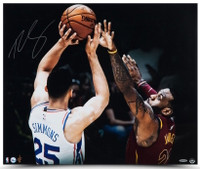 "BEN SIMMONS Autographed ""Matchup"" 20 x 24 Philadelphia 76ers Photograph UDA"
