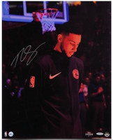 "BEN SIMMONS Autographed ""Preparation"" 16 x 20 76ers Photograph UDA LE 125"