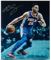 "BEN SIMMONS Autographed ""Vision"" 24"" x 20"" 76ers Photograph UDA"