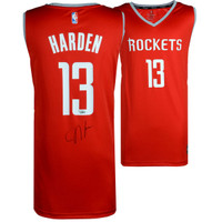 JAMES HARDEN Houston Rockets Autographed Replica Red Jersey FANATICS