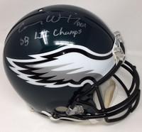 """CARSON WENTZ Autographed """"SB LII Champs"""" Authentic Proline Helmet FANATICS"""