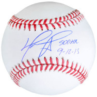 "DAVID ORTIZ Autographed Boston Red Sox ""500 HR 9-12-15"" Baseball FANATICS"