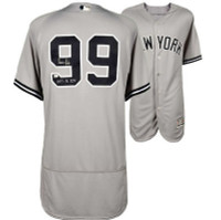 "AARON JUDGE Autographed ""2017 AL ROY"" Authentic Yankees Away Jersey FANATICS"