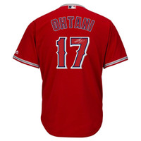 SHOHEI OHTANI Autographed Los Angeles Angels Red Away Jersey STEINER
