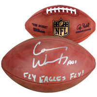 "CARSON WENTZ Autographed ""Fly Eagles Fly"" Official Duke Football FANATICS"