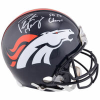PEYTON MANNING Signed / Inscribed SB 50 Champs Proline Helmet FANATICS