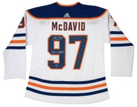 "CONNOR McDAVID Signed ""2016-17 Hart "" Oilers Authentic Adidas Jersey UDA LE 97"