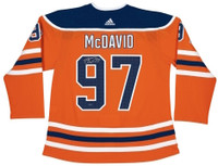 CONNOR McDAVID Autographed Edmonton Oilers Authentic Adidas Orange Jersey UDA