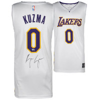 KYLE KUZMA Autographed White Los Angeles Lakers Jersey FANATICS