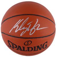 KLAY THOMPSON Autographed Golden State Warriors Spalding Basketball FANATICS
