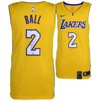 LONZO BALL Autographed Gold Los Angeles Lakers Jersey FANATICS