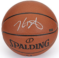 KEVIN DURANT Autographed (Silver) Spalding Basketball Warriors PANINI