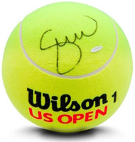SERENA WILLIAMS Autographed Jumbo Yellow Wilson Tennis Ball UDA