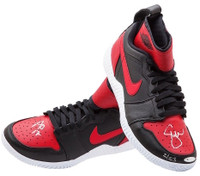 SERENA WILLIAMS Autographed Red/Black Nike Court Flare 23 Shoes UDA LE 23