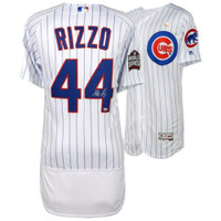 ANTHONY RIZZO Autographed 2017 World Series Home Authentic Jersey FANATICS