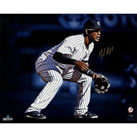 "MIGUEL ANDUJAR Autographed NY Yankees ""Fielding"" 16"" x 20"" Photograph STEINER"