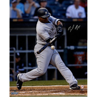 "MIGUEL ANDUJAR Autographed NY Yankees ""MLB Debut"" 16"" x 20"" Photograph STEINER"