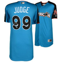 AARON JUDGE Autographed Yankees 2017 Home Run Derby Authentic Jersey FANATICS