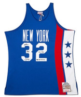 JULIUS ERVING Autographed / Inscribed NY Nets 1975 Authentic Jersey UDA LE 32