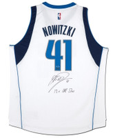 "DIRK NOWITZKI Autographed Mavericks ""13x All Star"" Swingman Jersey UDA LE 10"