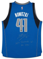 "DIRK NOWITZKI Autographed ""16/17 Teammate of the Year"" Swingman Jersey UDA LE 41"