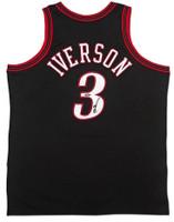 ALLEN IVERSON Autographed Philadelphia 76ers 1997 Authentic Black Jersey UDA